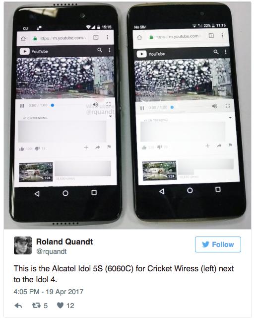 Alcatel Idol 5S впервые показал себя на фото – фото 1