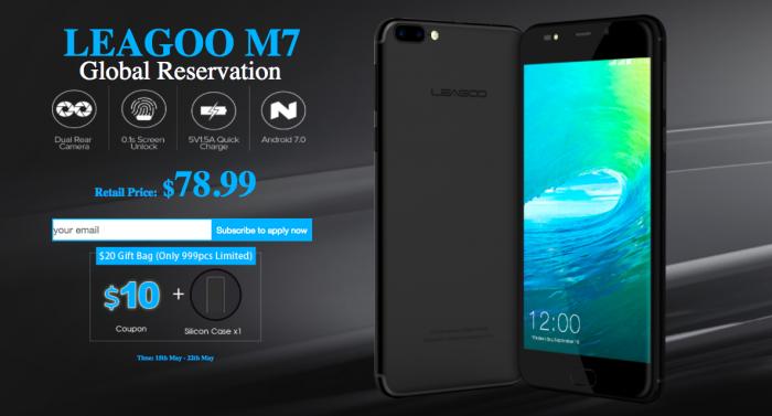 Дан старт предзаказам Leagoo M7 в стиле iPhone 7 Plus на платформе Android 7.0 Nougat – фото 1