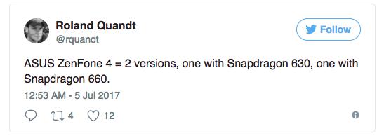 ASUS ZenFone 4 (2017) с Snapdragon 660 замечен в бенчмарке – фото 2