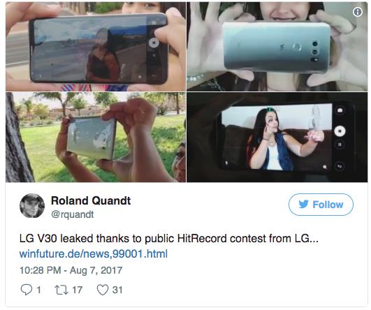 LG V30 показался на живых фото – фото 2