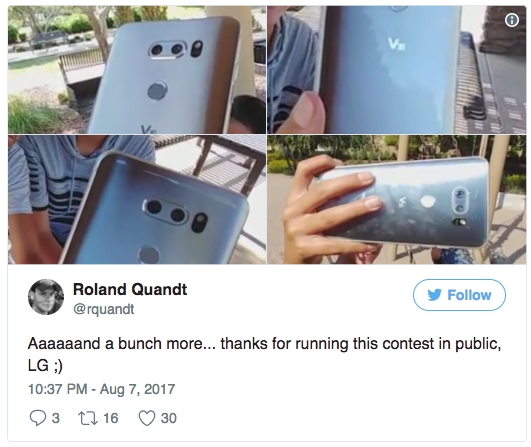 LG V30 показался на живых фото – фото 3