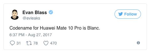 Подробности о Huawei Mate 10 и Mate 10 Pro от Эвана Бласса – фото 2