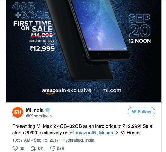 Xiaomi Mi Max 2 получил еще одну версию с 32 Гб постоянной памяти – фото 2