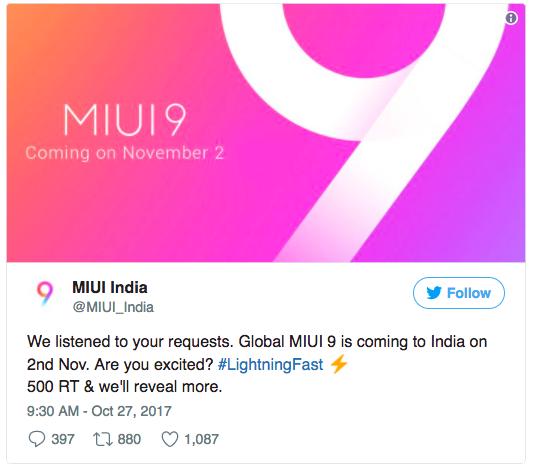 Глобальную финальную версию MIUI 9 представят 2 ноября – фото 2