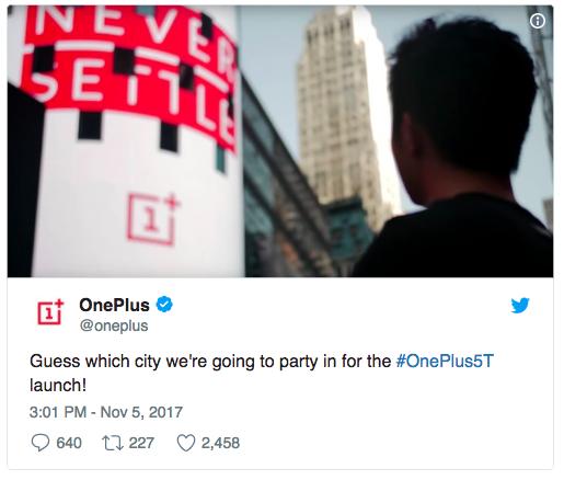 Презентация OnePlus 5T пройдет в  Нью-Йорке – фото 2