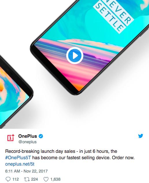 OnePlus 5T хорошо покупают и возможность выхода OnePlus 6T в следующем году не исключена – фото 2