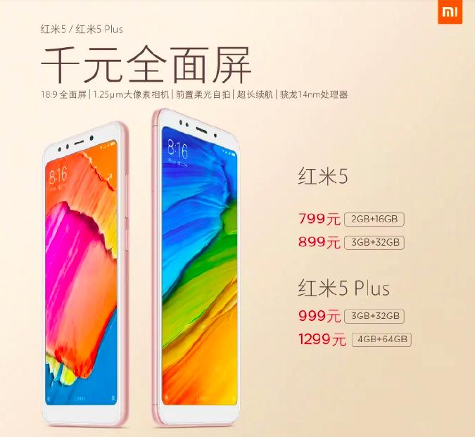 Анонс Xiaomi Redmi 5 и Redmi 5 Plus: полноэкранные доступные смартфоны на платформах Qualcomm от $120 – фото 2