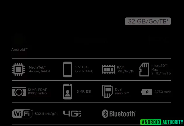 Упаковка HTC Desire 12 рассказала о его характеристиках – фото 2
