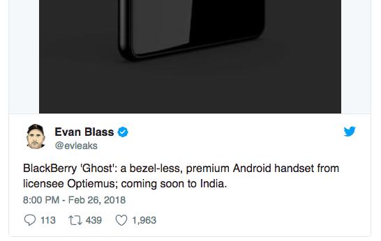 BlackBerry Ghost — первый «безрамочный» смартфон под маркой BlackBerry – фото 2