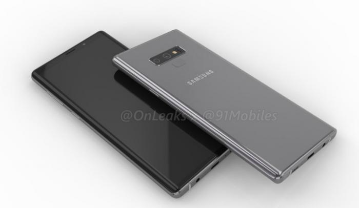 Samsung Galaxy Note 9 показали со всех сторон на 3D-рендере – фото 1