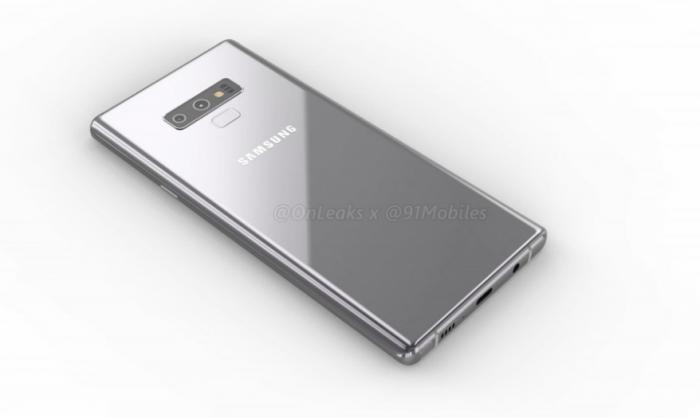Samsung Galaxy Note 9 показали со всех сторон на 3D-рендере – фото 4