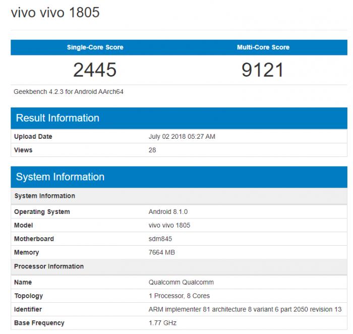 Vivo готовит еще флагман с Snapdragon 845 – фото 2