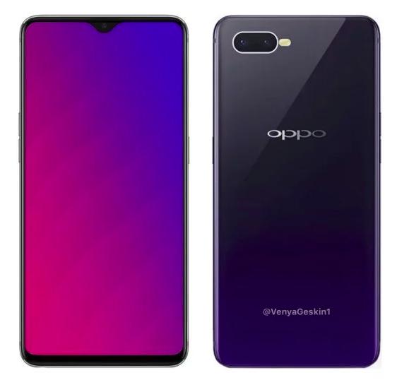 Рендеры Oppo R17 и Oppo F9 Pro: побег от «моноброви» – фото 1