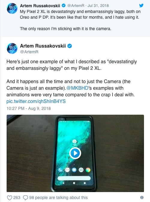 Google Pixel 2 XL зависает и тормозит – фото 3