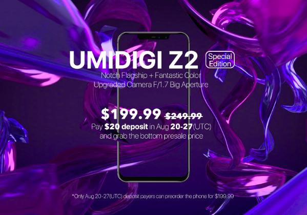 Специальная версия UMIDIGI Z2 по скидке в рамках предзаказа – фото 3