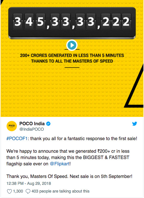 Первая продажа Xiaomi Poco F1 (Pocophone F1) стала рекордной – фото 2