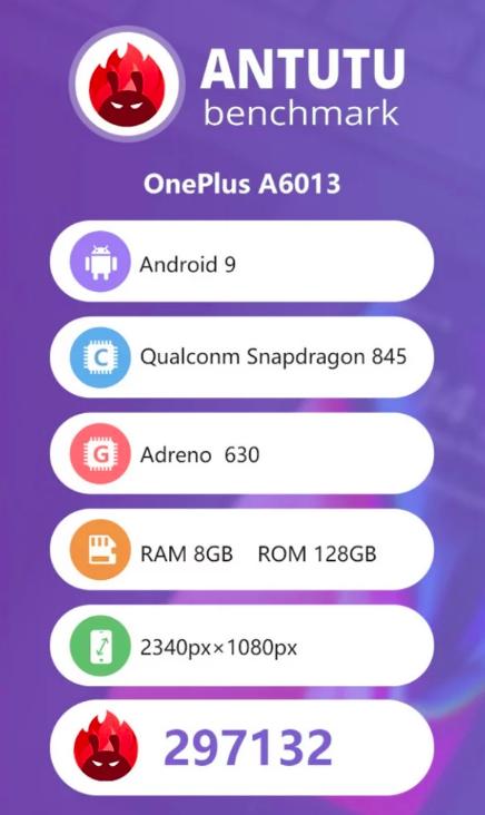 OnePlus 6T вплотную подобрался к лидеру глобального рейтинга AnTuTu – фото 1