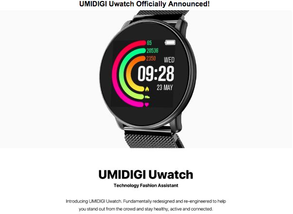 Смарт-часы UMIDIGI Uwatch живут без подзарядки до 25 дней и стоят $25 – фото 1