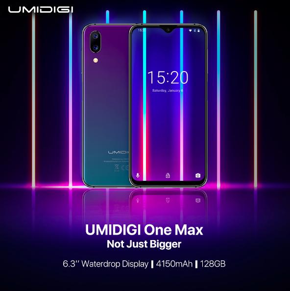 UMIDIGI One Max предложит модный экран с «каплей» и емкую батарейку – фото 1