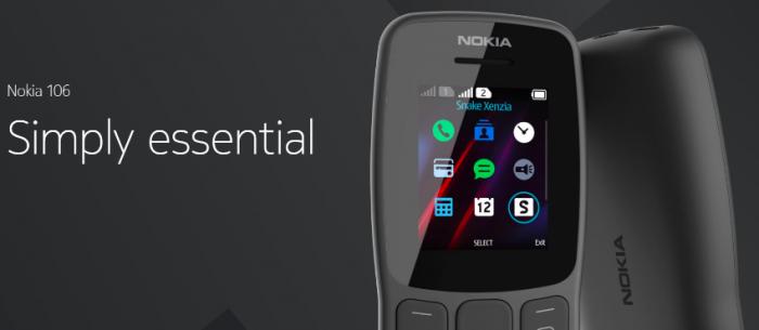 Анонс Nokia 106: кнопочный марафонец – фото 1