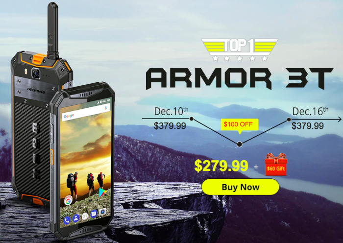 Ulefone Armor 3T и UMIDIGI One Max по сниженной цене на Gearbest – фото 1