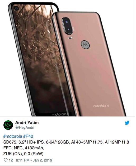 Озвучили характеристики Motorola P40 (Moto P40) – фото 2