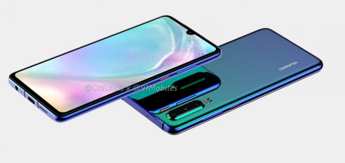 3D-рендер Huawei P30 раскрывает все особенности дизайна – фото 1