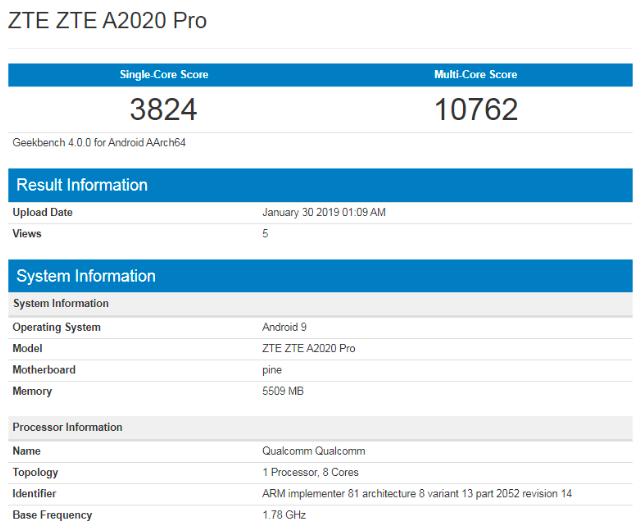 Найдены первые сведения о ZTE Axon 10 Pro – фото 2