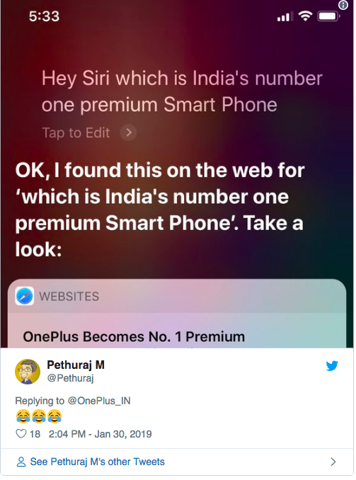 OnePlus нашла повод потроллить Apple – фото 2