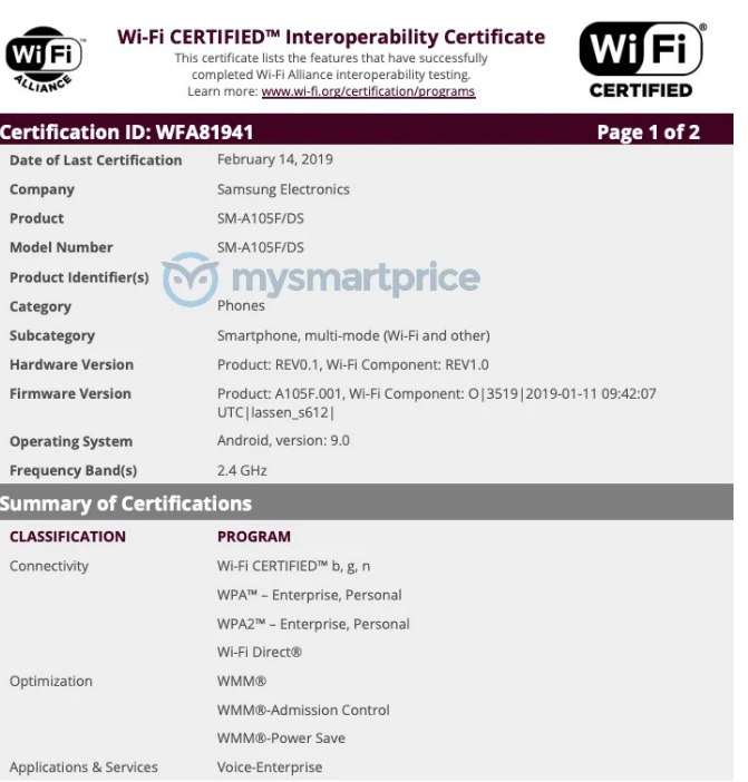 Полные характеристики Samsung Galaxy A50, Galaxy A30 и Galaxy A10 – фото 2