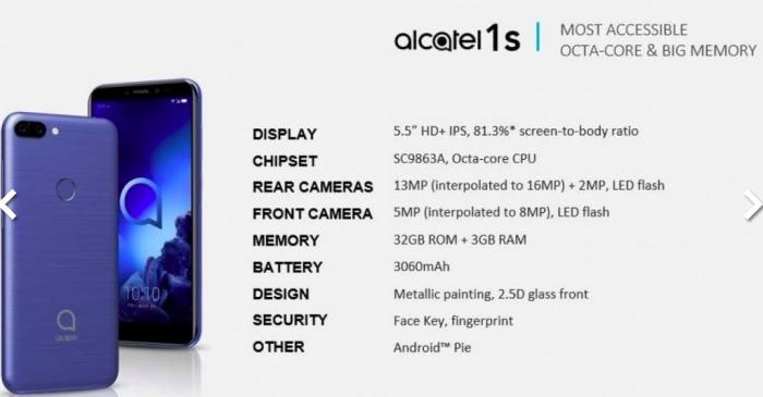 Alcatel привезет на MWC 2019 сразу шесть бюджетников – фото 2