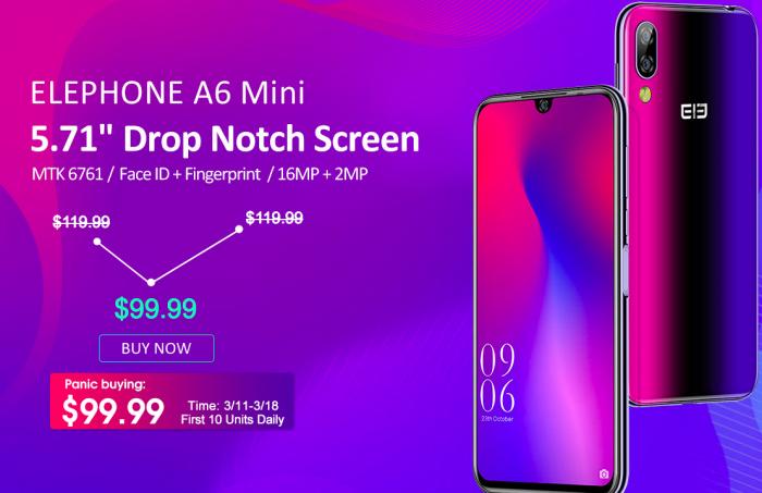 Бюджетный Elephone A6 Mini за $100 в магазине Coolicool – фото 1