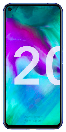 Рендеры и характеристики Honor 20 с «дыркой» в дисплее и сканером отпечатков пальцев на боку – фото 2