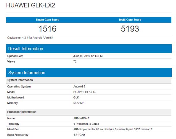 Характеристики Huawei Nova 5i с сайта TENAA – фото 3