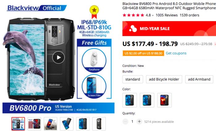 Летняя распродажа смартфонов Blackview на AliExpress – фото 7