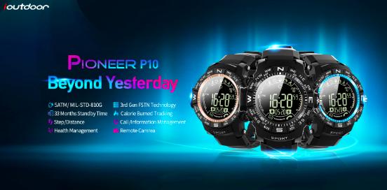 Представлены многофункциональные смарт-часы ioutdoor Pioneer P10 – фото 1