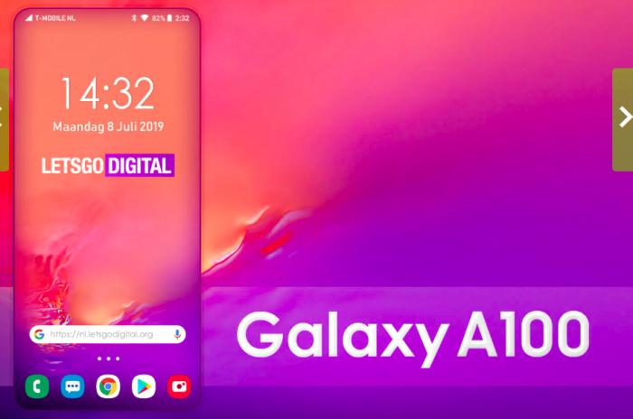 Samsung Galaxy A100 предложит полноэкранную панель нового поколения – фото 1