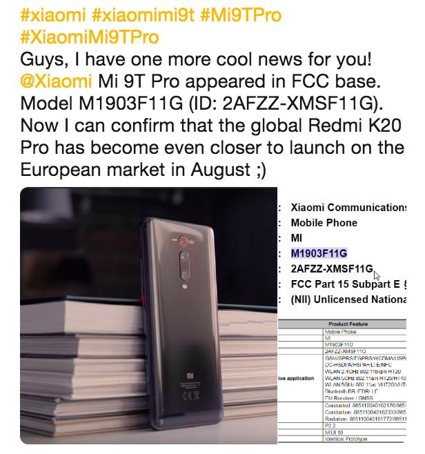 Стало известно, когда на рынок выйдет Xiaomi Mi 9T Pro – фото 1