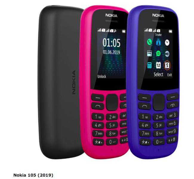 Nokia 105 (2019) рендер