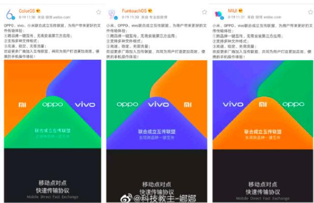 Oppo, Vivo, Xiaomi
