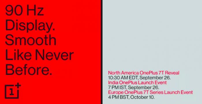 Назначена дата презентации серии OnePlus 7T