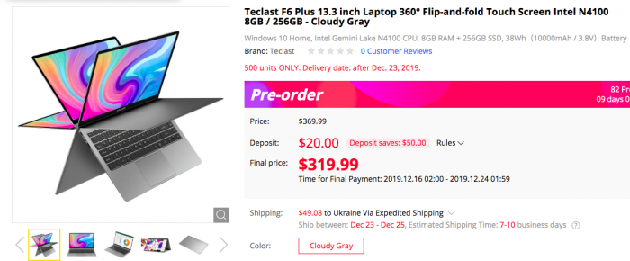 Teclast F6 Plus можно будет прикупить со скидкой за $319,99 – фото 2
