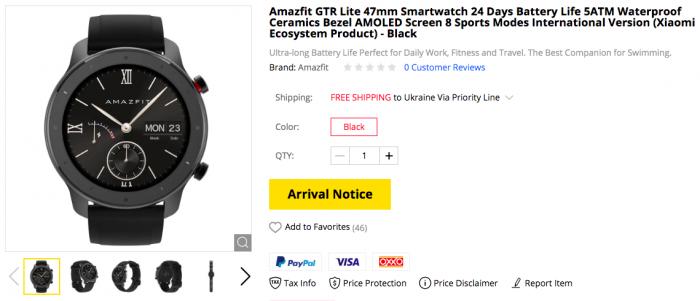 Смарт-часы Amazfit GTR Lite в продаже по цене $109,99 – фото 1