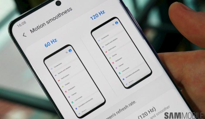 Samsung Galaxy S20 может получить 120 Гц при WQHD+ разрешении