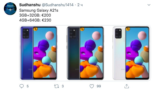 Назвали ценники на Samsung Galaxy A21s – фото 1