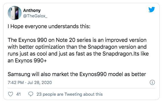 Samsung Galaxy Note 20 предложит чип Exynos 990. Его правильную версию – фото 2