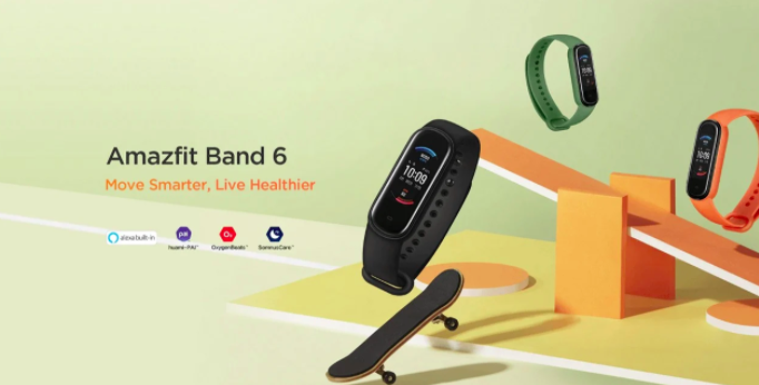 Фитнес-трекер Amazfit Band 6: Xiaomi Mi Band 5 c Alexa и датчиком SPO2 – фото 1