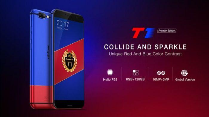 Ulefone T1 Premium Edition — эксклюзивная версия с 128 Гб ПЗУ и в новых цветах – фото 1