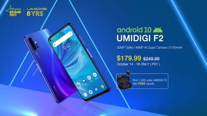 UMIDIGI F2 поступил в продажу. Скидки к 8-летию компании – фото 4