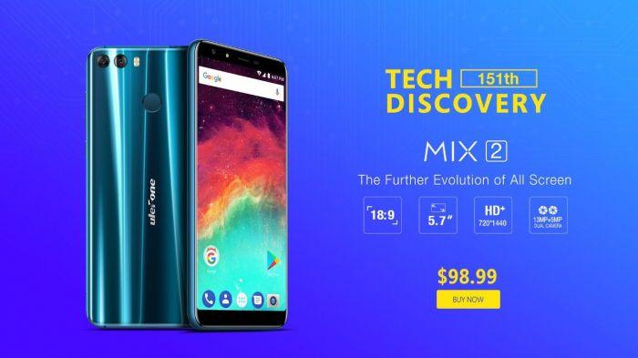 Ulefone MIX 2 временно доступен по скидке за $98,99 – фото 1